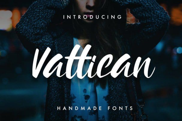 Download Vattican - Handmade Brush font font (typeface)