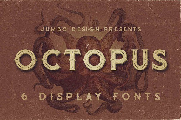 Download Octopus - Vintage Style Font font (typeface)