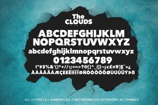 Download The Clouds Family font (typeface)
