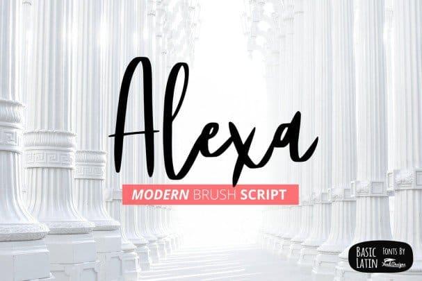 Download Alexa Modern Brush Script font (typeface)