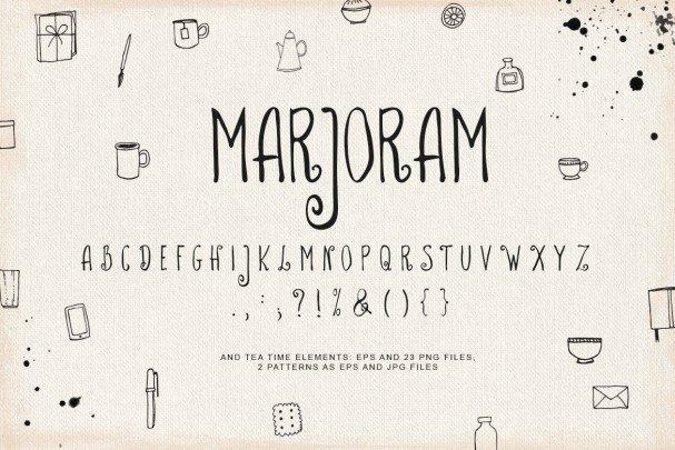 Download Marjoram font (typeface)