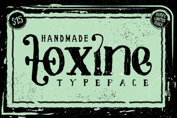 Download TOXINE typeface + Ornament pack font (typeface)