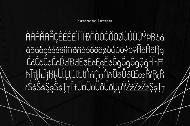 Download Cornera Extended font (typeface)