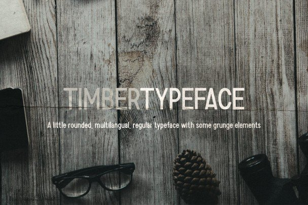 Download Timber Typeface font (typeface)