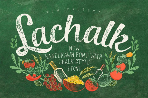 Download LaChalk Typeface + Extras font (typeface)