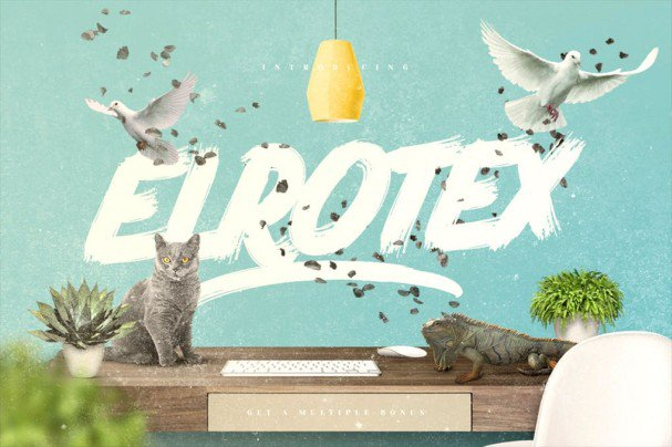 Download Elrotex Brush Font font (typeface)