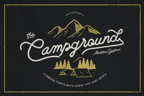 Download Campground 2 Fonts font (typeface)