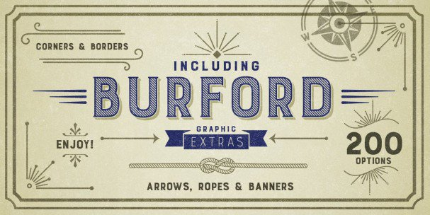 Download Burford Marquee font (typeface)