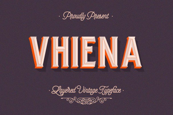 Download Vhiena Layered Type 2.0 font (typeface)