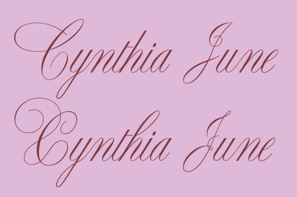 Download Cynthia June font (typeface)