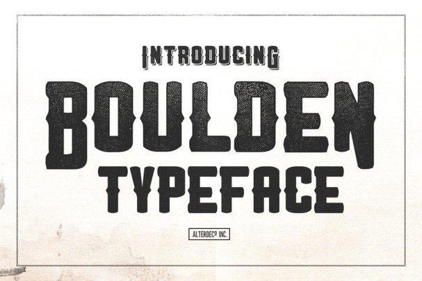 Download Boulden Typeface font (typeface)