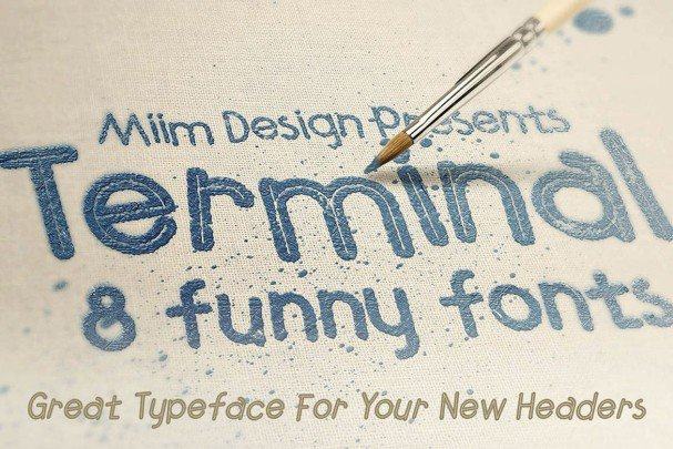 Download Terminal - Funny Font font (typeface)