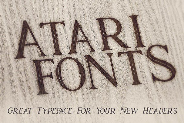 Download Atari - Vintage Style font (typeface)