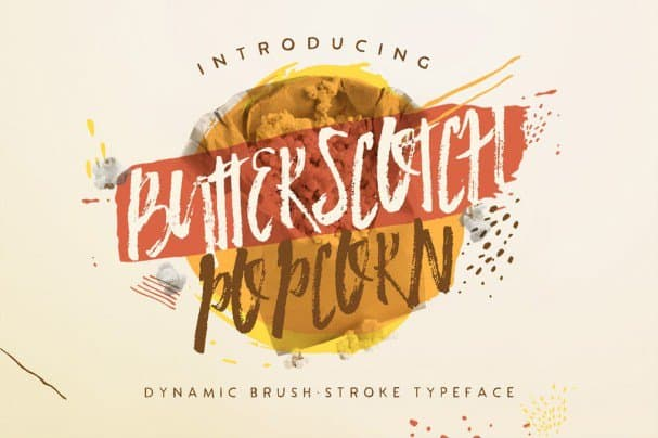 Download Butterscotch Popcorn font (typeface)