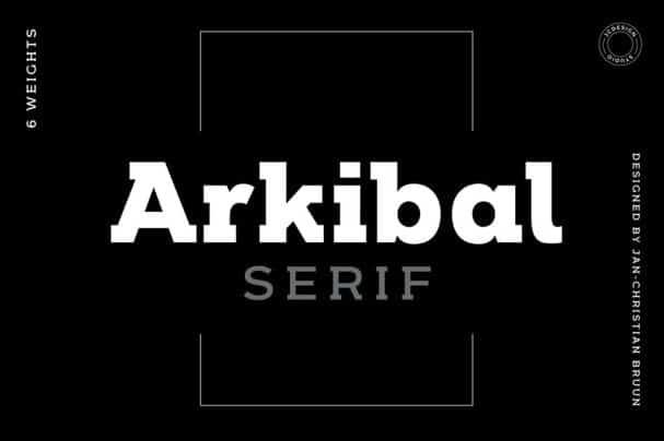 Download Arkibal Serif font (typeface)
