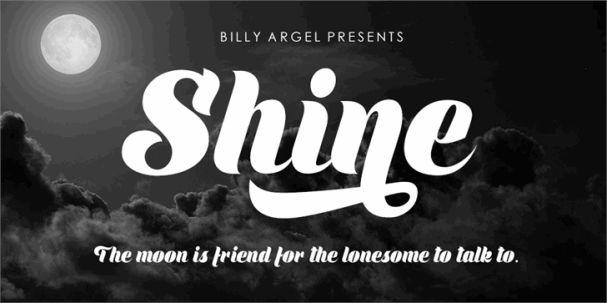 Download Shine font (typeface)
