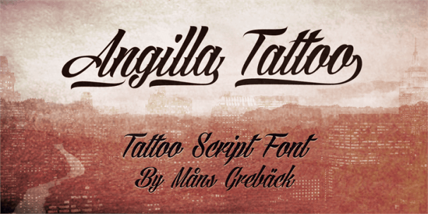 Download Angilla Tattoo font (typeface)