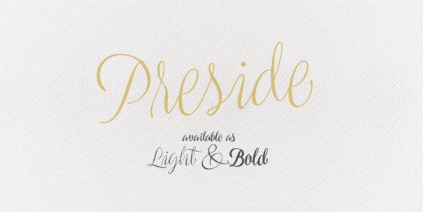 Download Preside font (typeface)