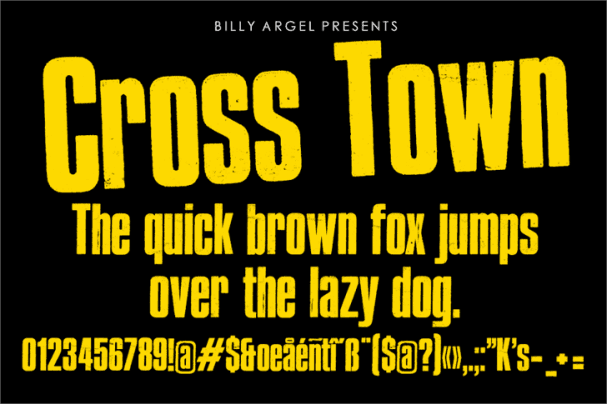 Download Cross Town font (typeface)