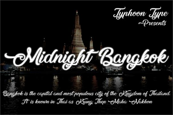 Download Midnight Bangkok font (typeface)