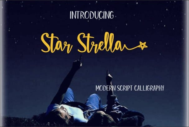 Download Star Strella font (typeface)