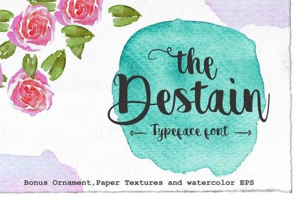 Download Destain font (typeface)