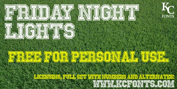 Download Friday Night Lights font (typeface)
