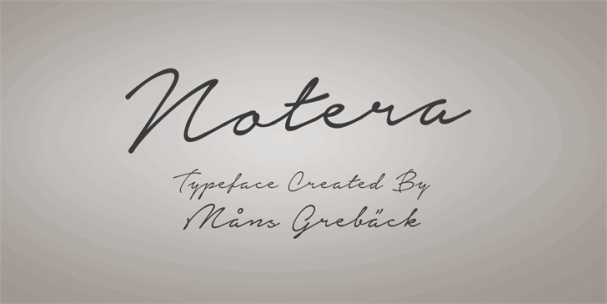 Download Notera font (typeface)