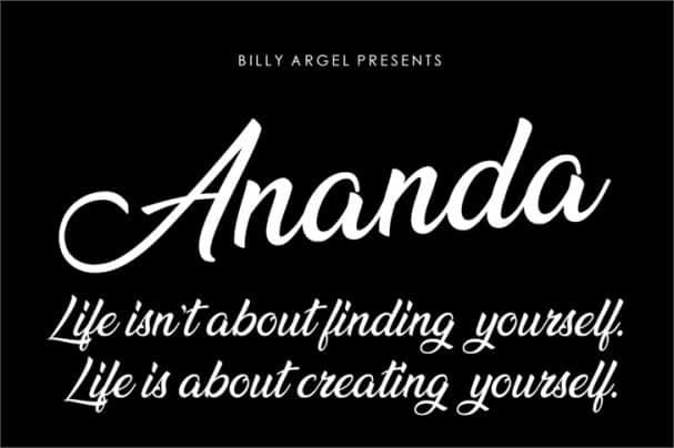 Download Ananda font (typeface)