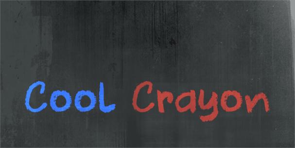 Download DK Cool Crayon font (typeface)