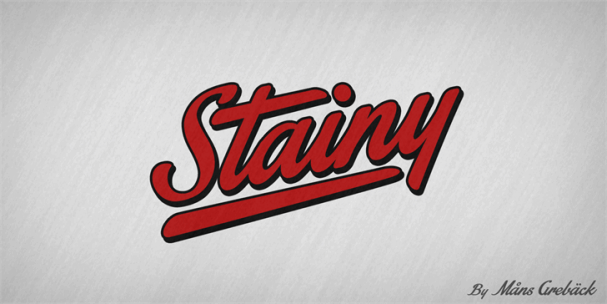 Download Stainy font (typeface)