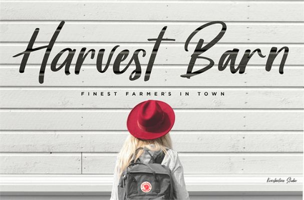 Download Harvest Barn font (typeface)