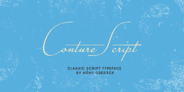 Download Conture Script font (typeface)