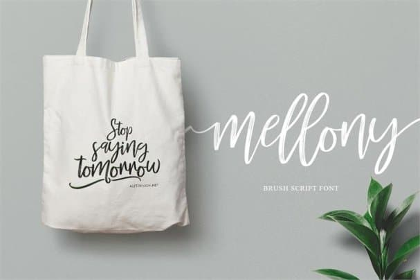 Download Mellony dry brush font (typeface)