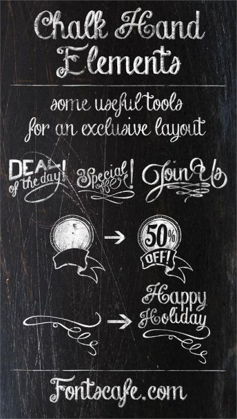 Download Chalk hand lettering shaded font (typeface)