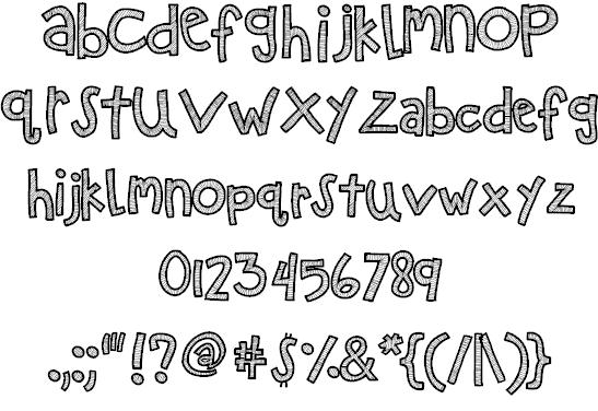 Download KB Zipa Dee Doo Dah font (typeface)