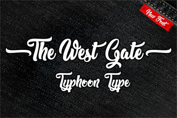 Download The West Gate font (typeface)