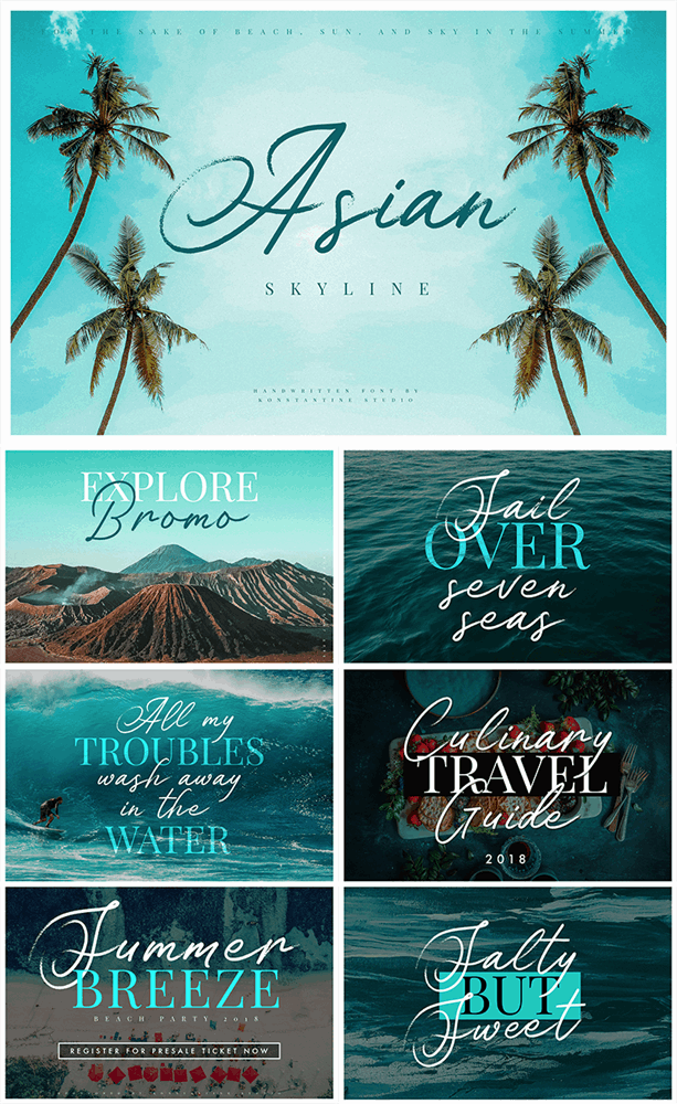 Download Asian Skyline font (typeface)