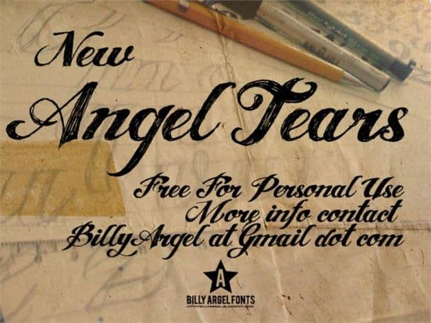 Download ANGEL TEARS font (typeface)