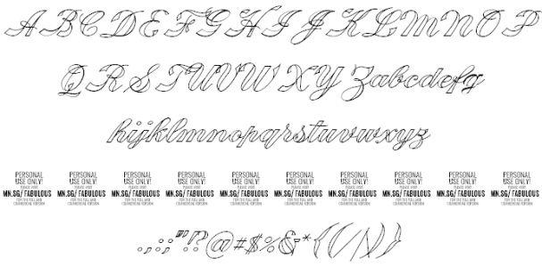 Download Fabulous font (typeface)