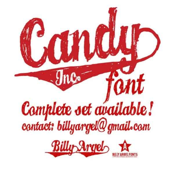 Download CANDY INC. font (typeface)