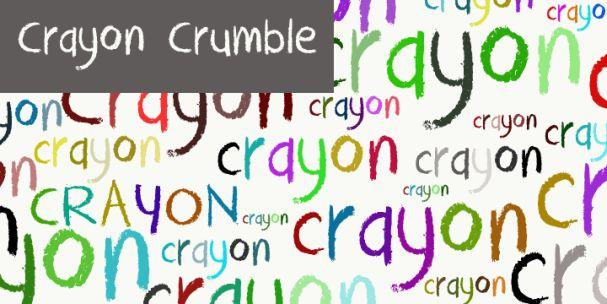 Download DK Crayon Crumble font (typeface)
