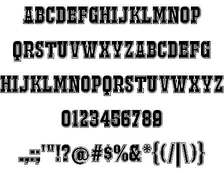 Download JACKPORT COLLEGE NCV font (typeface)