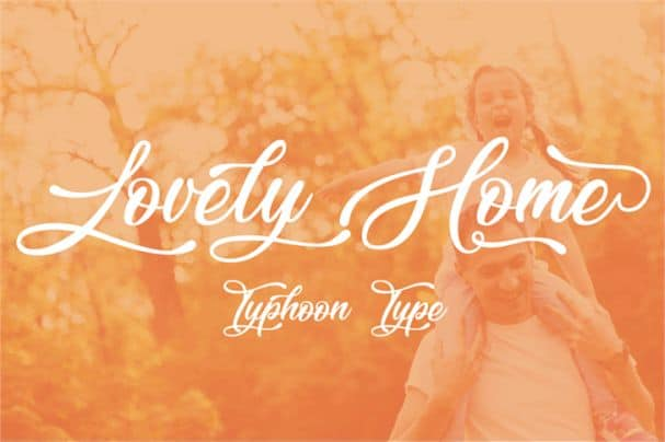 Download Lovely Home font (typeface)