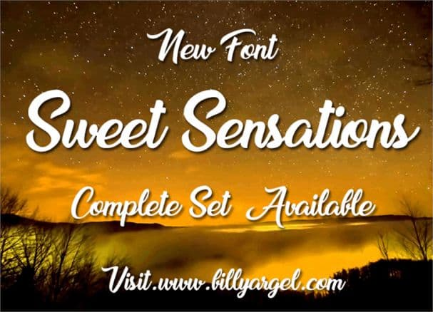 Download Sweet Sensations font (typeface)