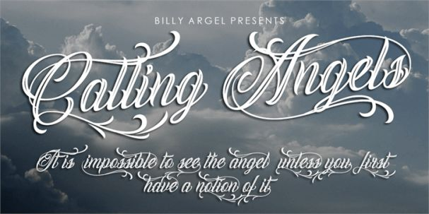 Download Calling Angels font (typeface)