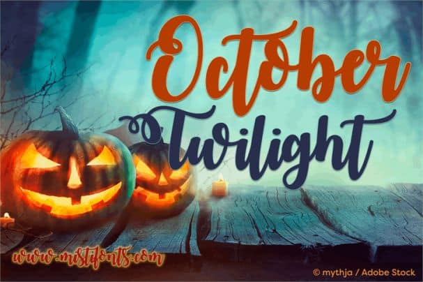 Download October Twilight font (typeface)