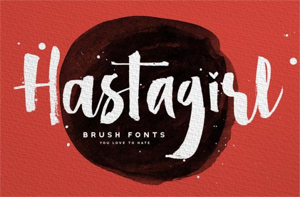 Download Hastagirl One font (typeface)