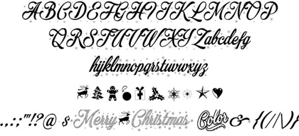 Download Merry Christmas Color font (typeface)