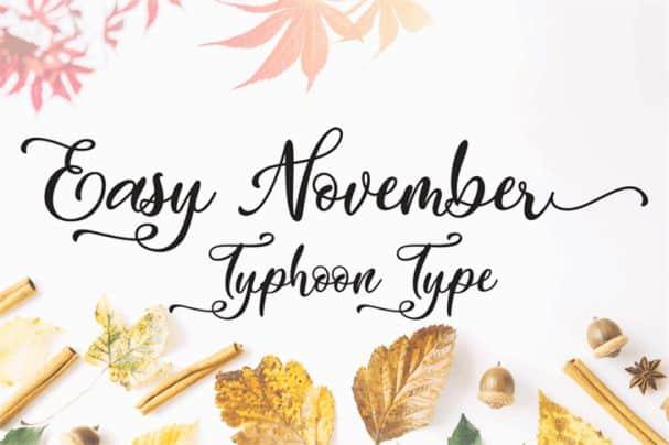 Download Easy November font (typeface)